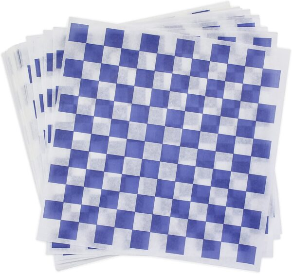 blue checkered liner
